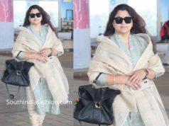khushbu sundar airport look