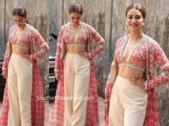 kriti kharbanda dress at pagalpanthi promotions