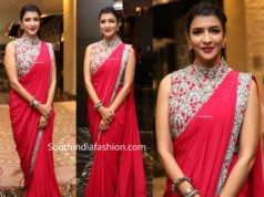 lakshmi manchu red saree at a book launch event (1)