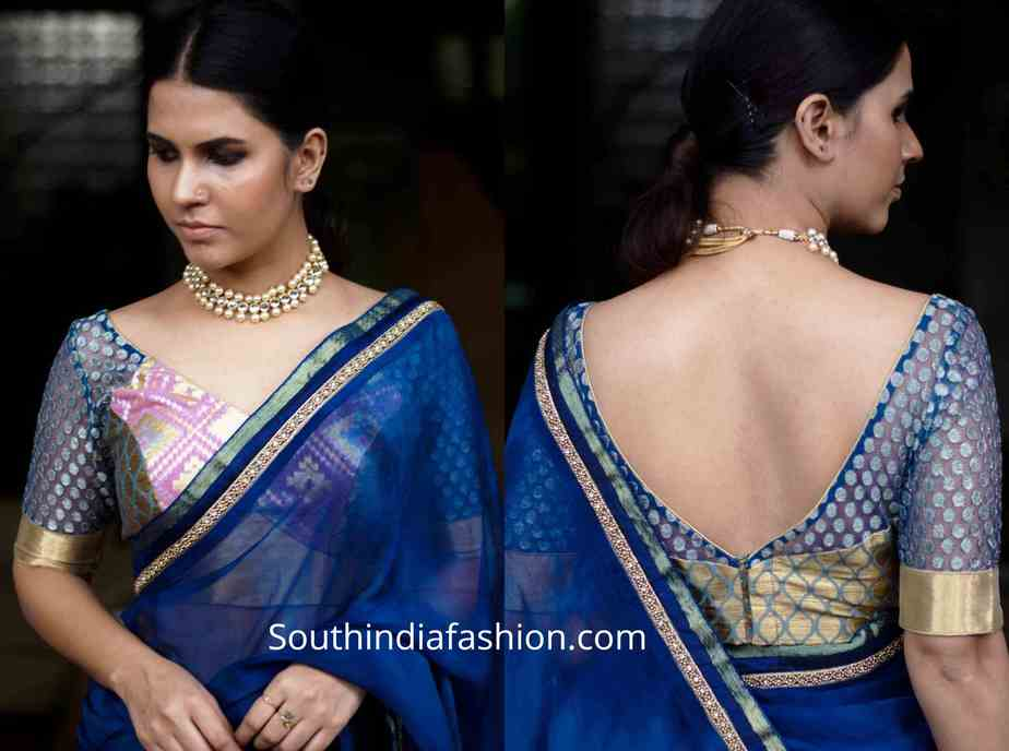 latest brocade blouse designs for sarees