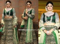 namitha green bridal lehenga by plush boutique