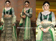namitha green bridal lehenga by plush boutique