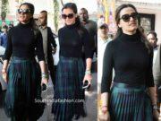 namrata shirodkar skirt at ashok galla film launch