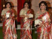 pinky reddy saree at ambani pre wedding party
