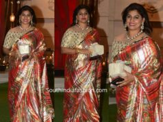 pinky reddy saree at ambani pre wedding party