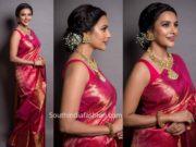 priya anand pink pattu saree (2)