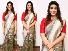 priyanka jawalker in silk saree at grt silks launch