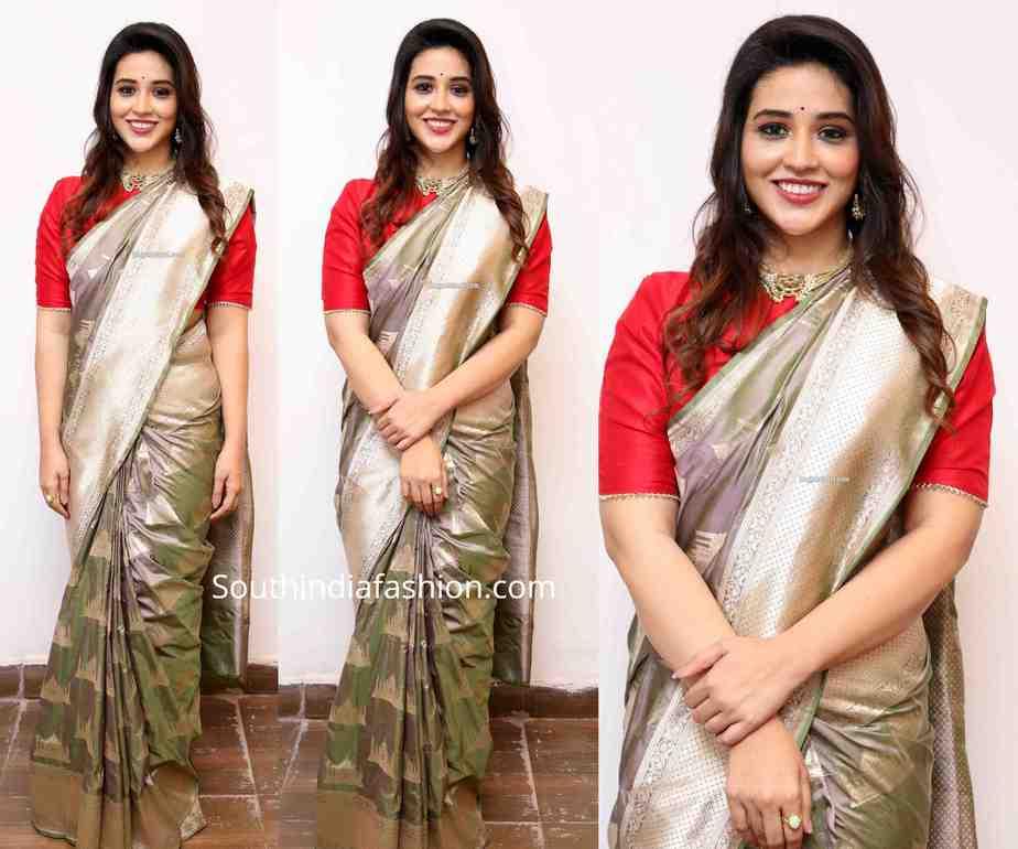 priyanka jawalker in silk saree at grt silks launch
