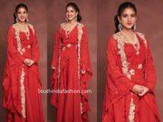 radhika merchant in red anamika khanna dress