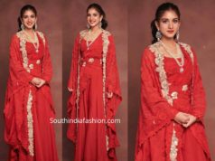 radhika merchant in red anamika khanna dress
