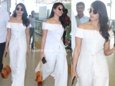 samantha akkineni white dress at airport (1)
