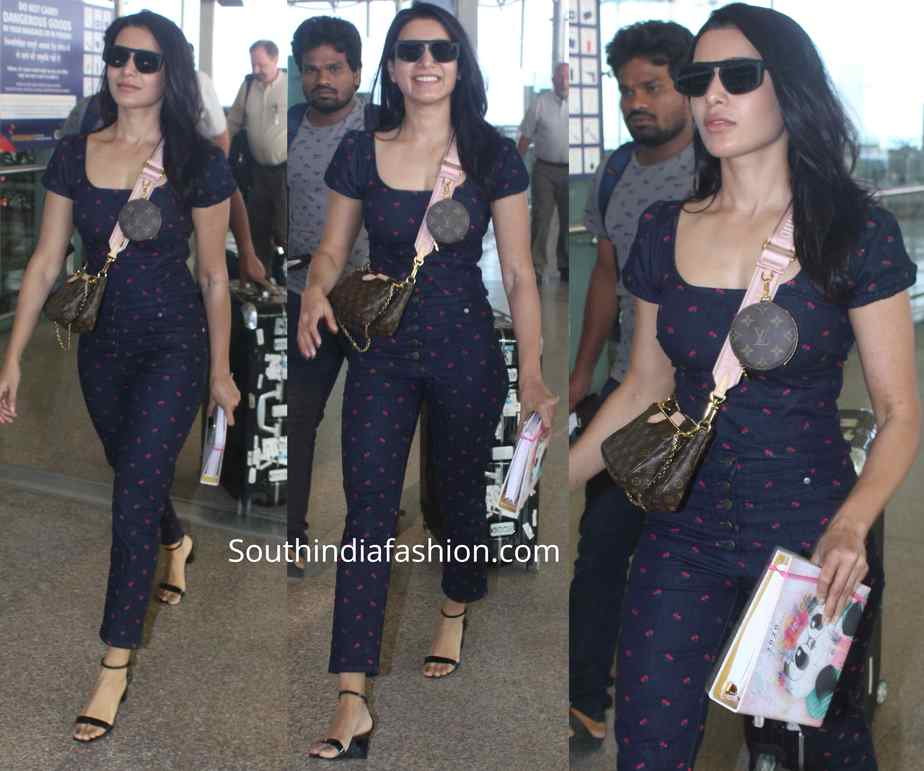 samantha akkkineni at hyderabad airport (1)
