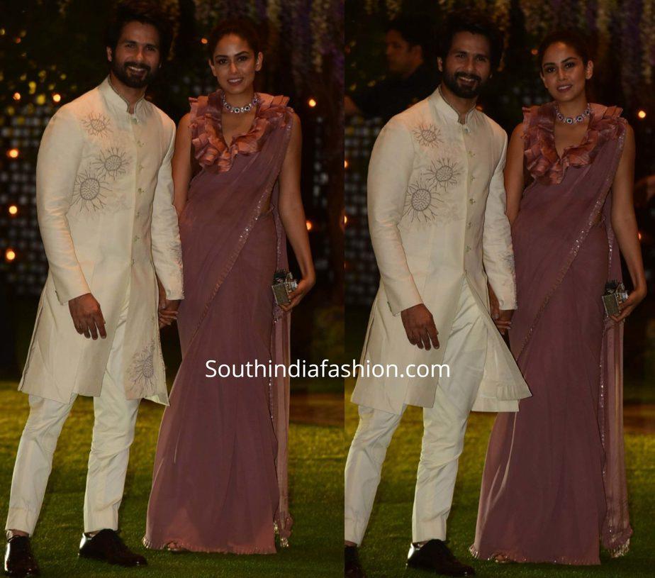 shahid kapoor and mira at ambani pre wedding party