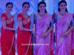 shilpa reddy and keerthy reddy in chanderi sarees at wedding (1)