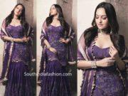 sonakshi sinha in purple gharara