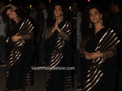 taapsee pannu in black saree at diwali party