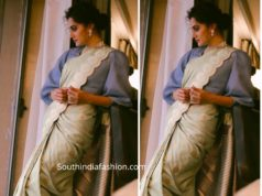 taapsee pannu in sailesh singhania saree