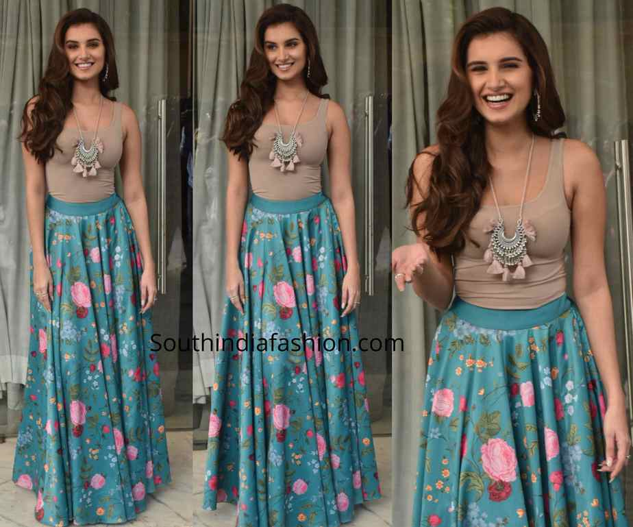 tara sutaria blue lehenga at marjaavaan promotions