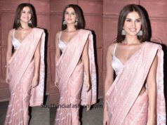 tara sutaria saree at maarjaavan screening