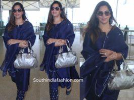 upasana blue salwar kameez airport (1)