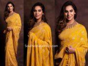 upasana konidela yellow saree
