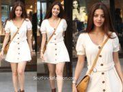 vedhika white dress