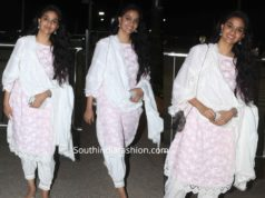 KEERTHY SURESH AT AIRPORT IN SALWAR KAMEEZ