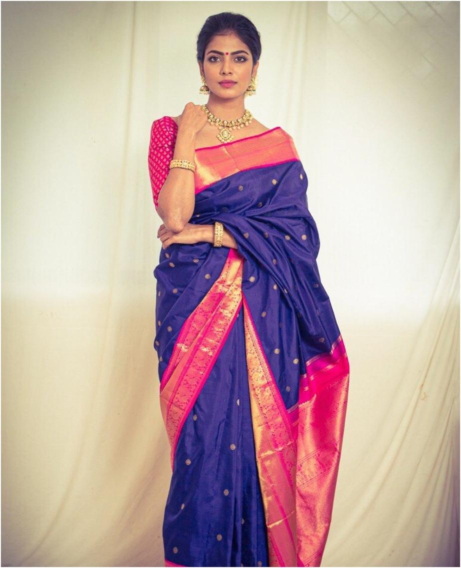Malavika Mohanan Silk sari