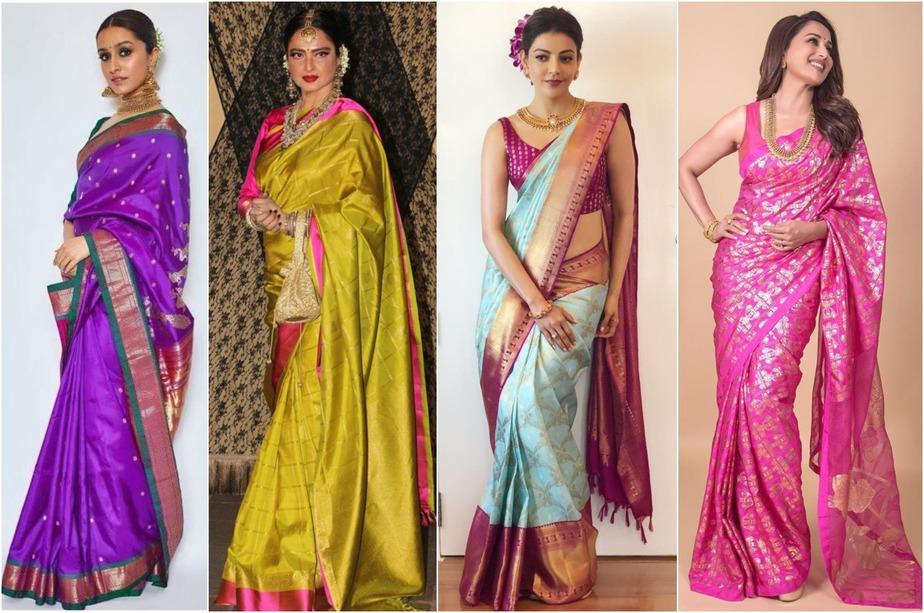Best Celebrity Silk Saree Looks Of 2019