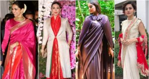 Winter Fashion with saree styling