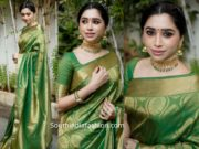 aarti ravi in green kanjeevaram saree (2)