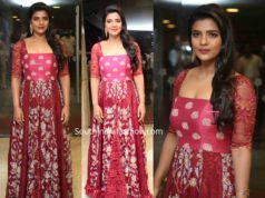 aishwarya arjun red gown at miss match pre release event