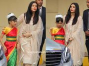 aishwarya rai bachchan in white salwar kameez at ambani annual day