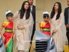 aishwarya rai bachchan in white salwar kameez at ambani annual day