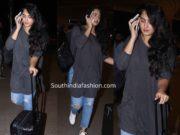 anushka shetty snapped at airport
