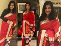 chinmayi in red saree