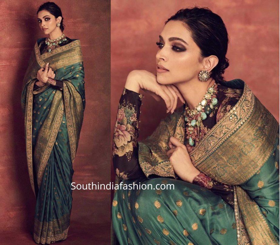 Deepika Padukone in Sabyasachi - South India Fashion