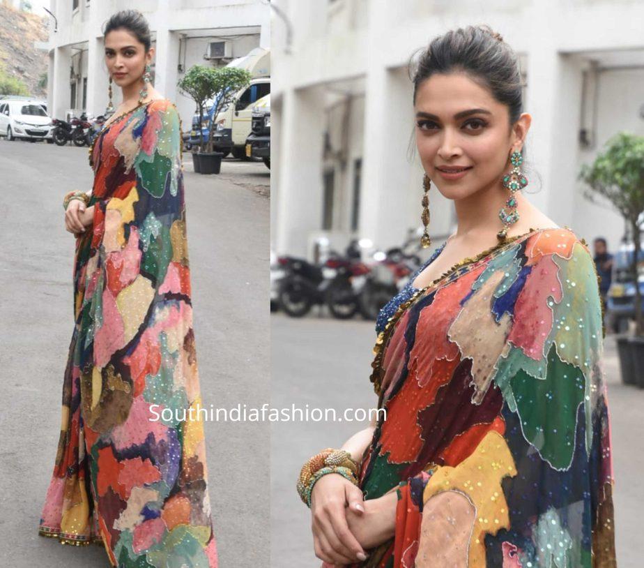Deepika Padukone in Sabyasachi at Chhapaak promotions