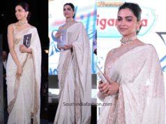 deepika padukone white saree at sridevi book launch