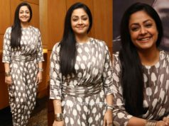jyothika dhoti dress at thambi promotions (1)