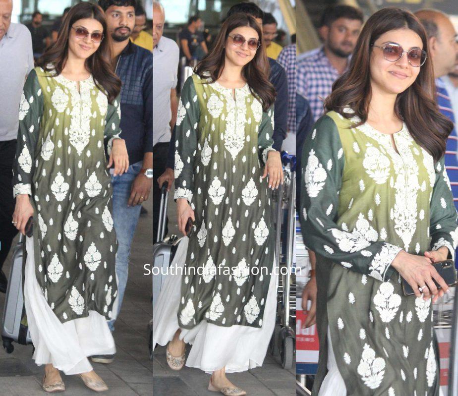 kajal aggarwal airport look