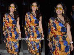 kajol in one shouldered darpe dress
