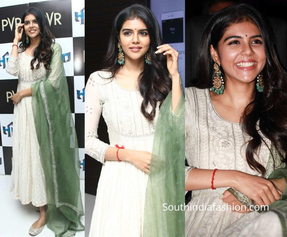 kalyani priyadarshan in white salwar suit