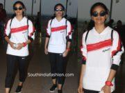 keerthy suresh airport active wear