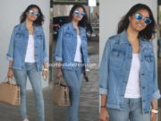 keerthy suresh no makeup airport look