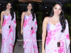 kiara advani in tie and dye sequin saree at armaan jain roka ceremony