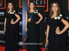 kima sharma in black saree at voue power list 2019