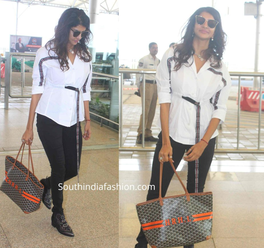 lakshmi manchu at hyderabad airport