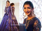 lakshmi manchu in purple lehenga at anam mirza wedding reception