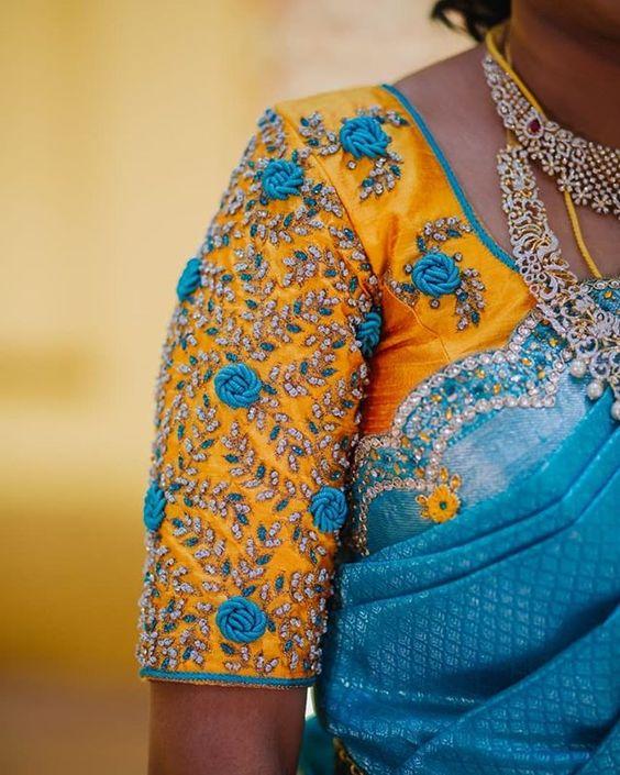 maggam work bridal silk sarees (2)